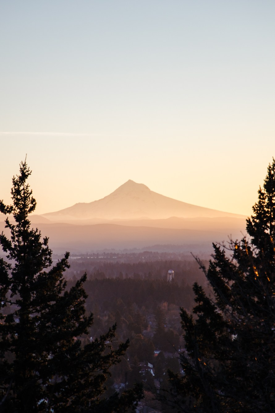 Mount Hood at sunrise