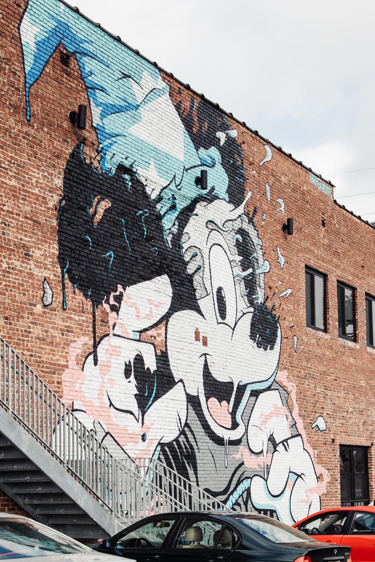 Minnie Mouse street art