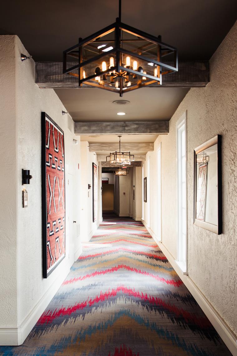 Hilton Santa Fe Historic Plaza hallway
