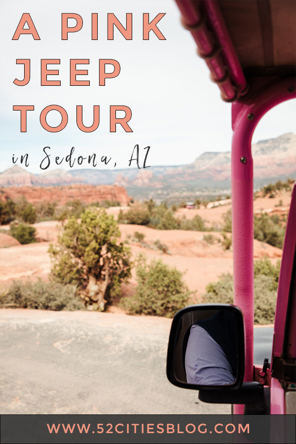 A pink jeep tour in Sedona, AZ