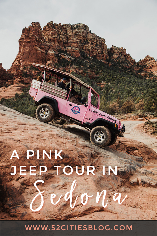 A pink jeep tour in Sedona