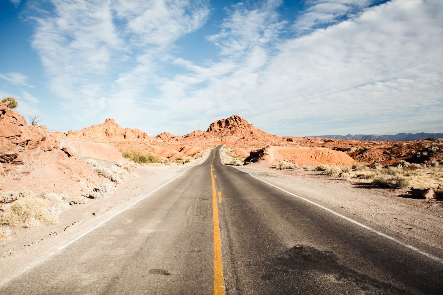 Highway in Valley of Fire State Park