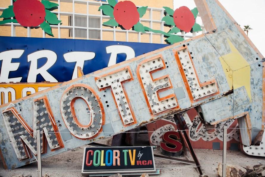 Motel sign Las Vegas Neon Museum