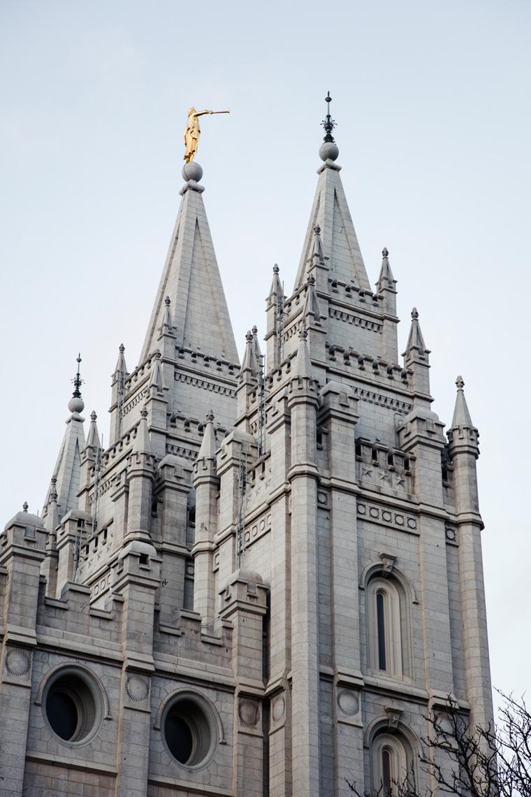 Temple Square spires