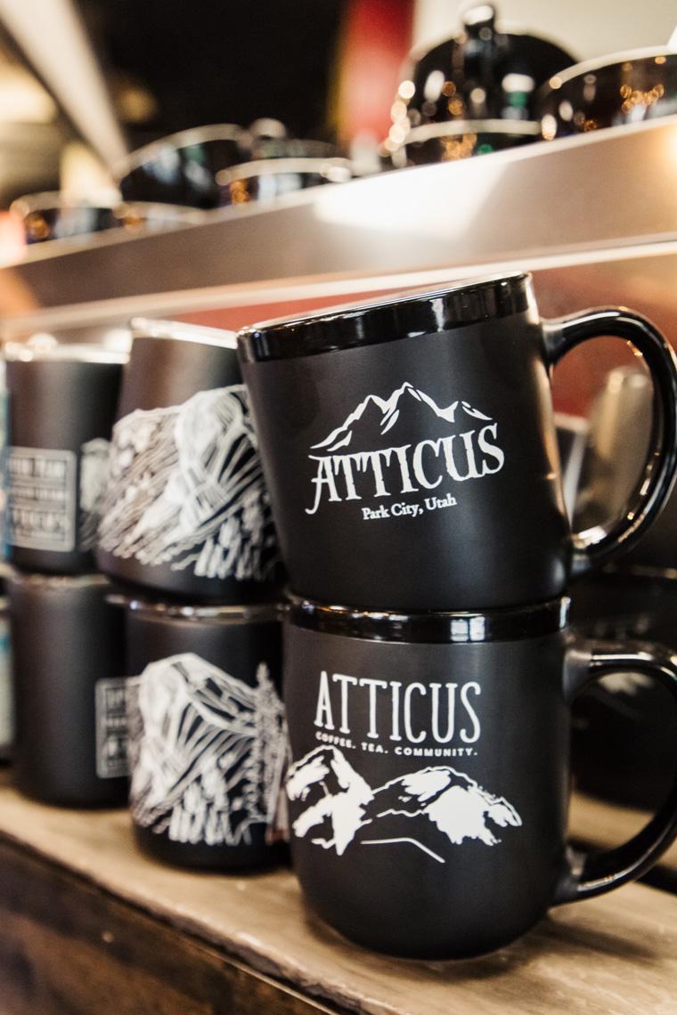 Stacked mugs at Atticus
