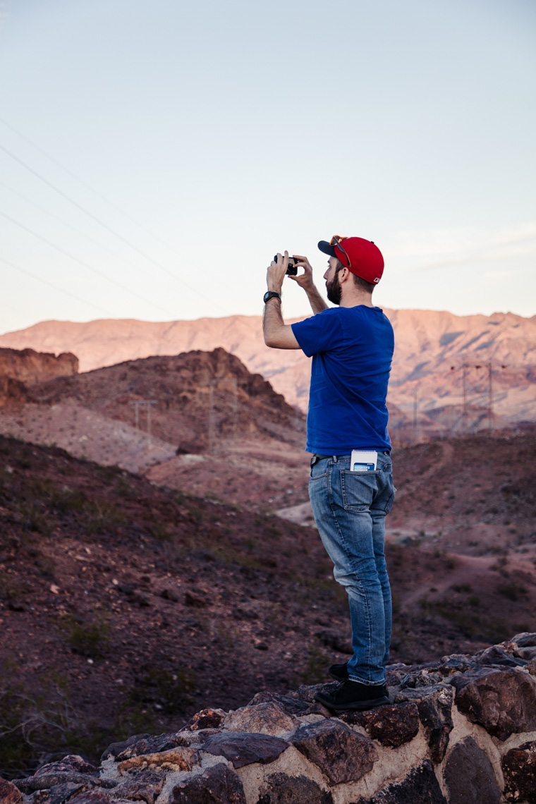 Jake taking a photo of Lake Mead