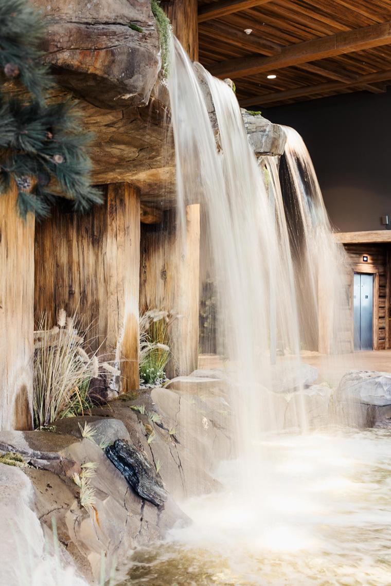 Gaylord Rockies Resort lobby waterfall