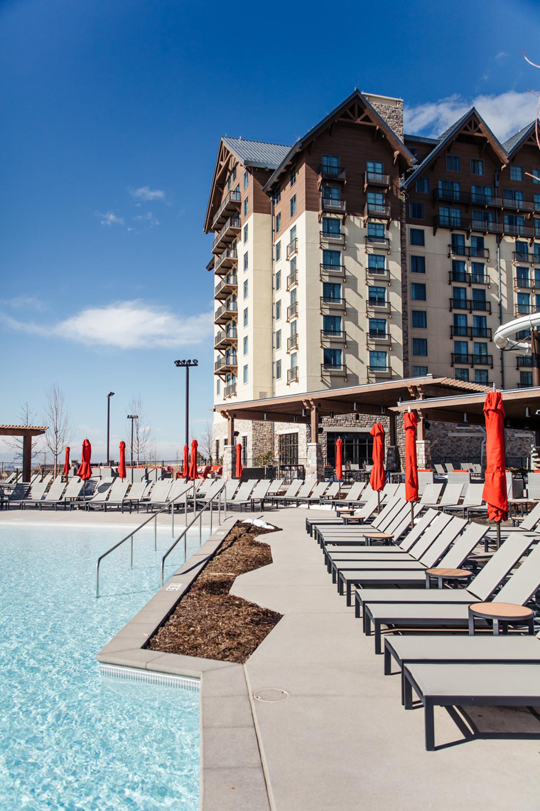 Gaylord Rockies Resort pool chairs