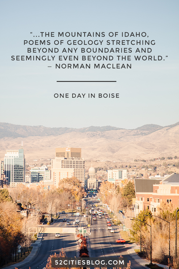 One day in Boise