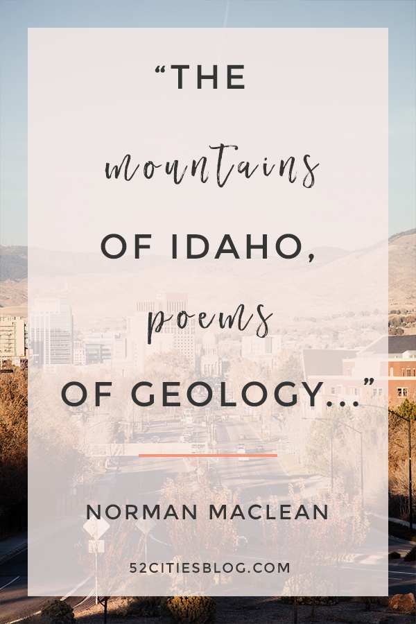 """The mountains of Idaho, poems of geology..."""