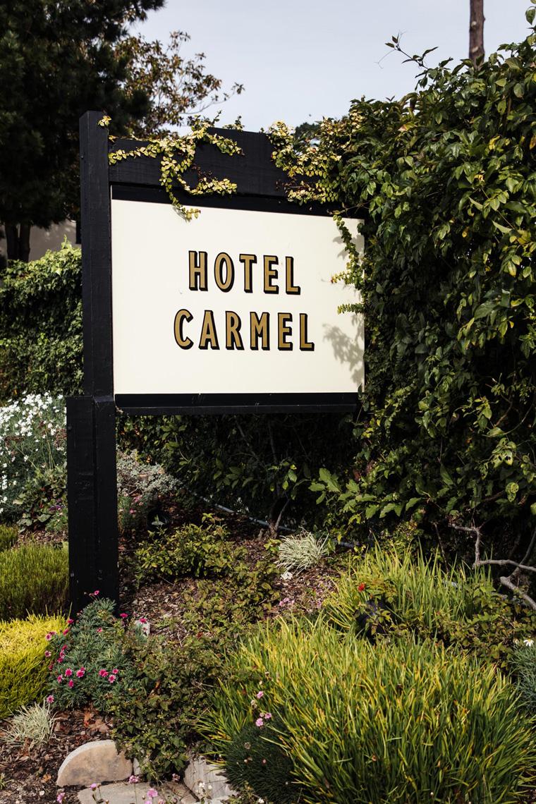 Hotel Carmel sign
