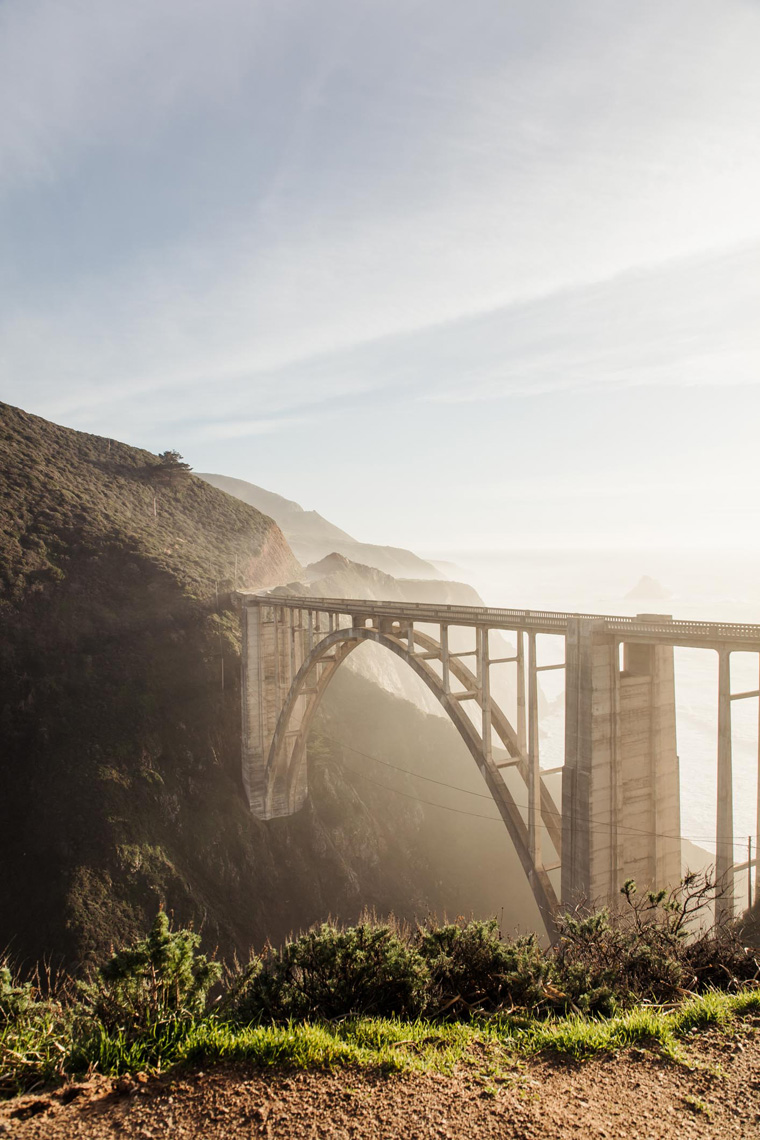 Bixby Bridge sunset view