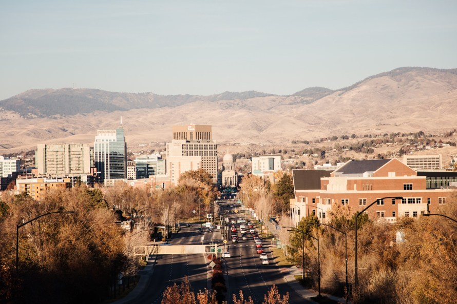 Downtown Boise from afar