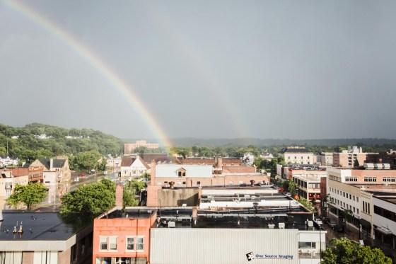 Eau Claire rainbow view
