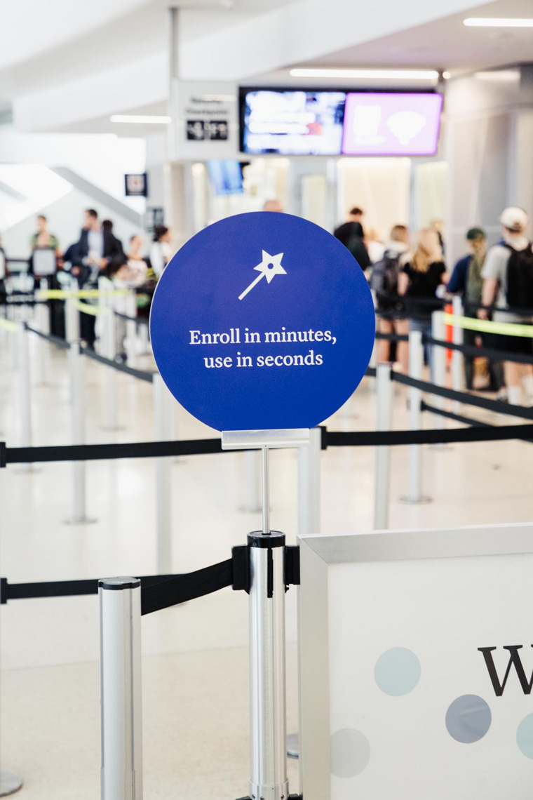 CLEAR airport enroll sign