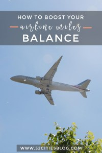 How to build your airline miles balance