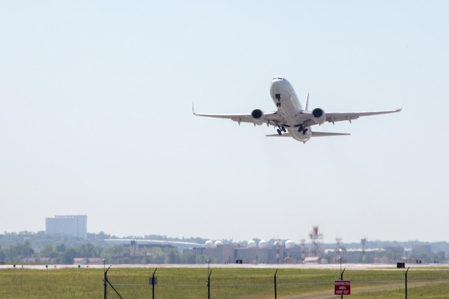 Airline plane taking off