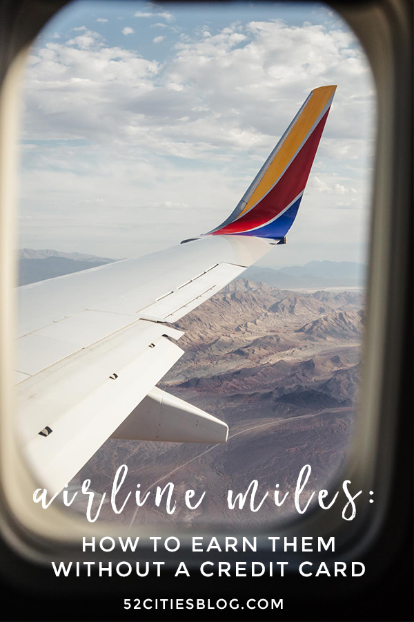 How to earn airline miles without a credit card