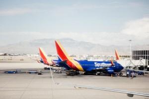 Southwest planes in Las Vegas