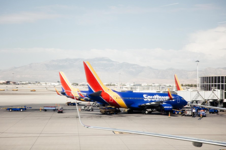 How to keep Southwest miles from expiring - Southwest planes in Las Vegas