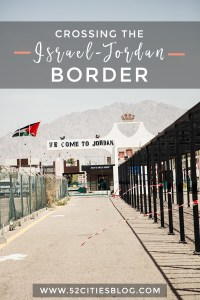 Crossing the Israel Jordan border