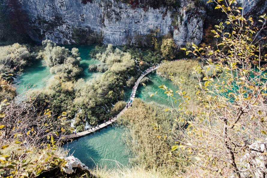 Plitvice Lakes National Park boardwalk, driving through Europe