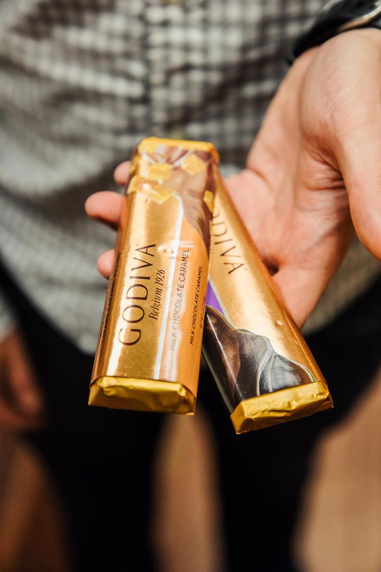 Chocolate bars for economy flying