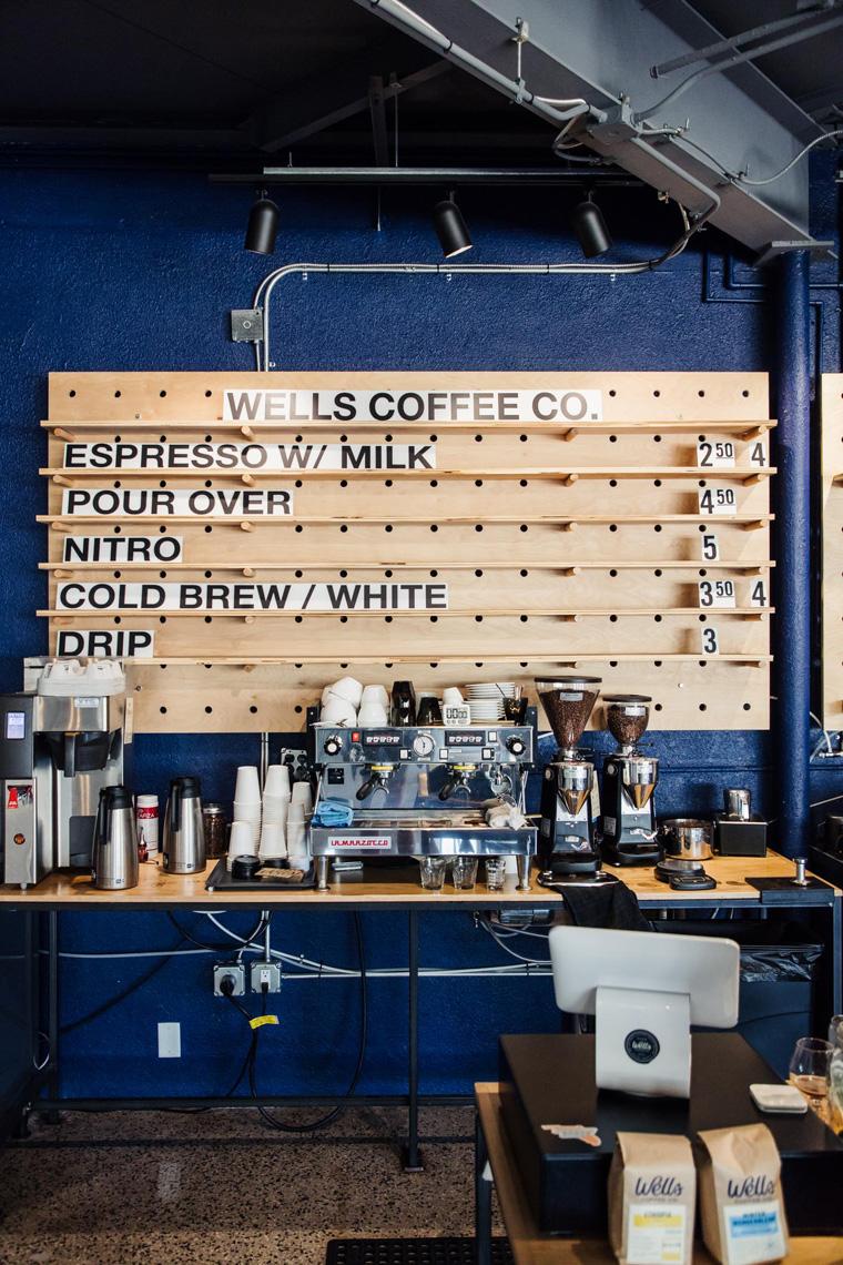 Wells Coffee Co. menu