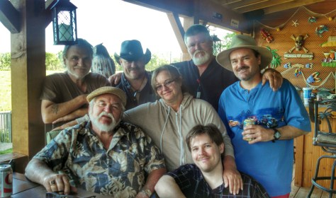 My siblings, father and I relaxing together in McKannaritaville.
