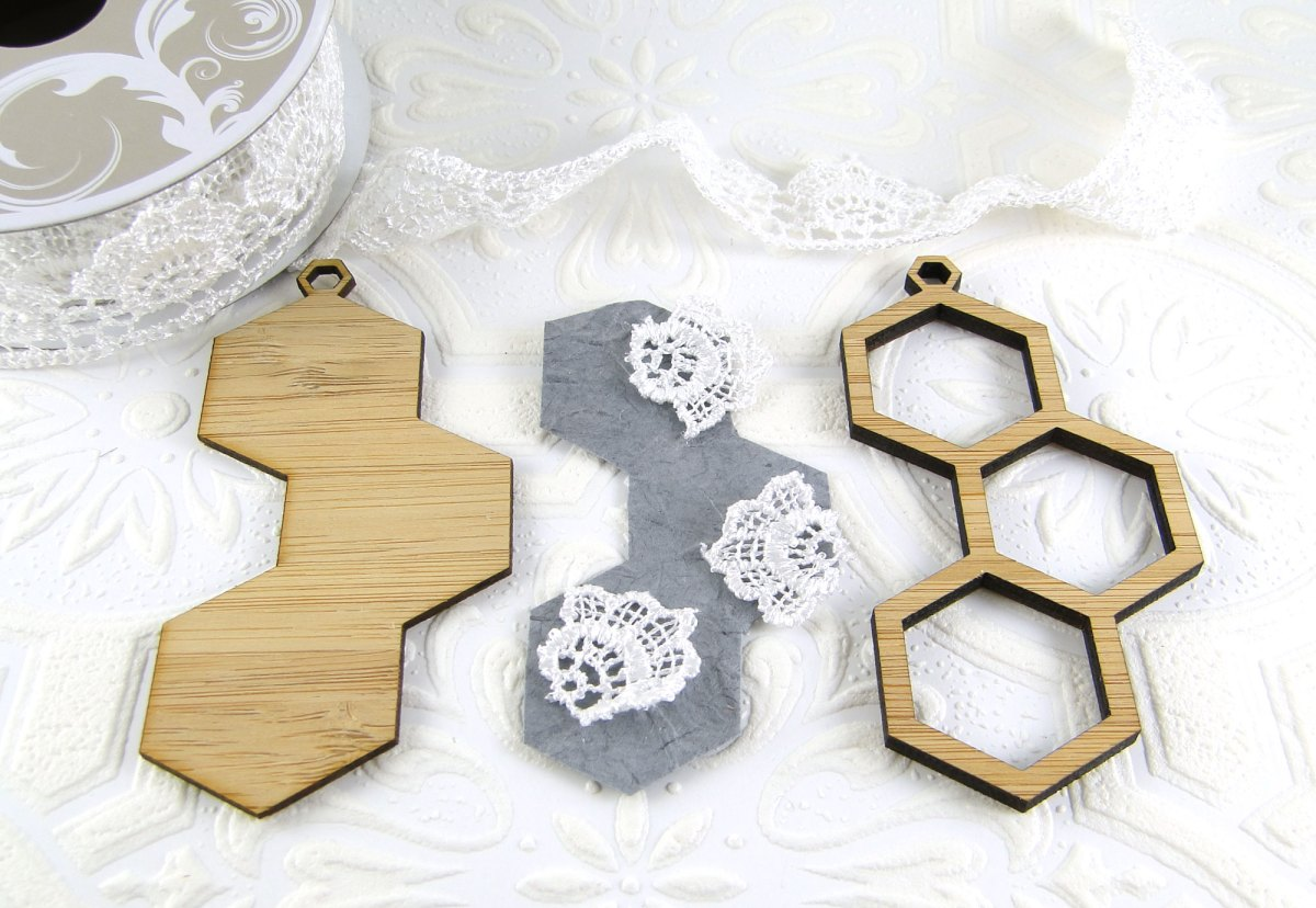 28: Hexagon Pendants