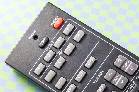 The naked remote. Not impossible to use, but not as intuitive as necessary.
