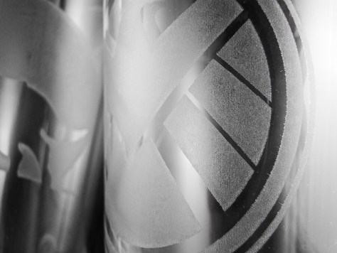 A close-up of the Shield glass.