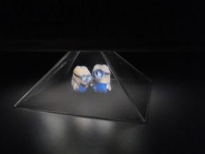 Tiny minions make jokes underneath my Moto X.