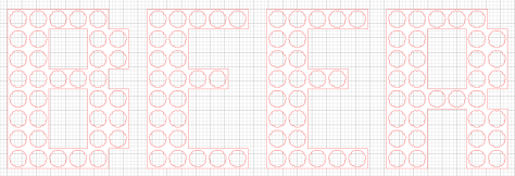 The final layout (apologies for how difficult it is to see!)