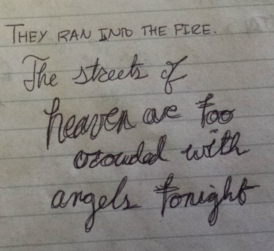 The streets of heaven are too crowded with angels tonight--The West Wing