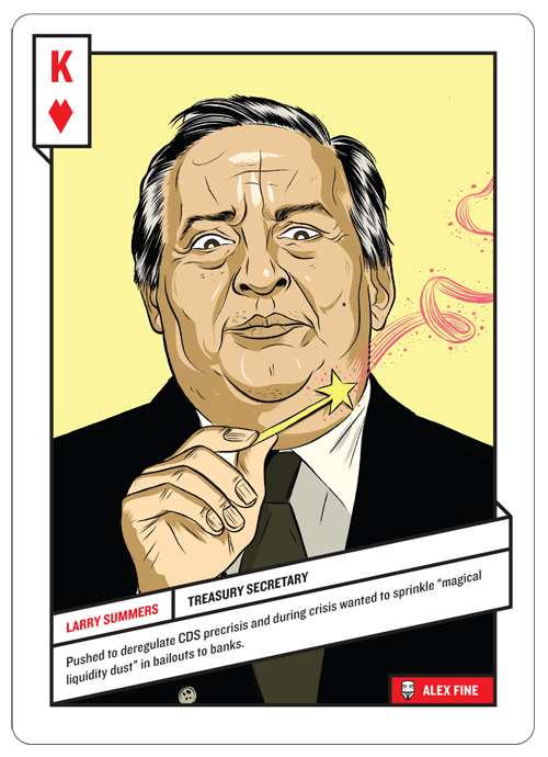 King of Hearts, Larry Summers by Alex Fine