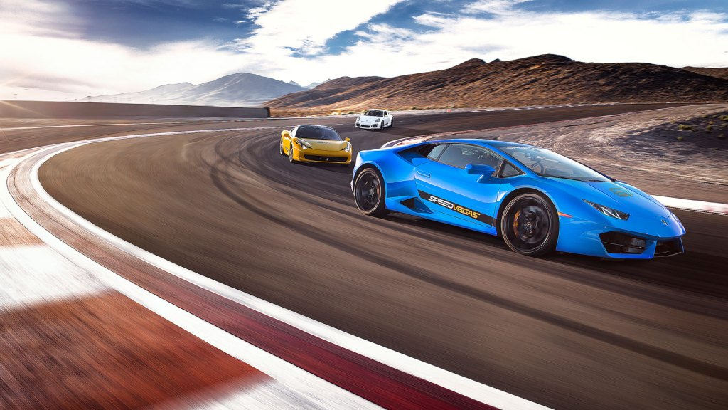 Race cars at SpeedVegas