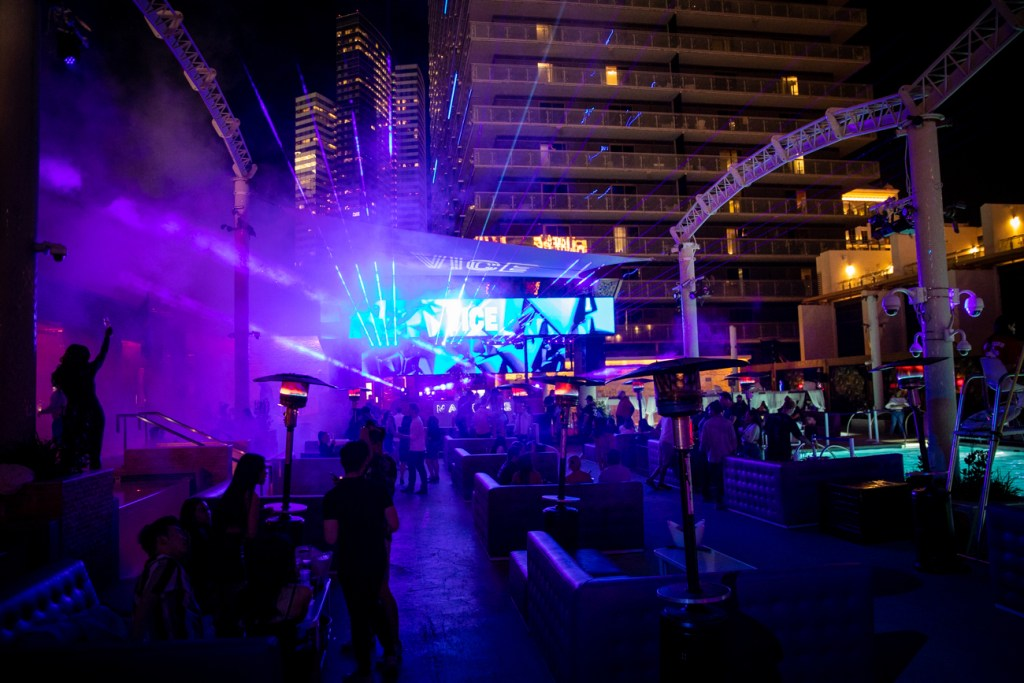 drenched after dark at marquee nightclub