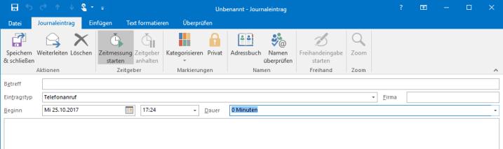 Zeitmanagement mit Outlook Screenshot