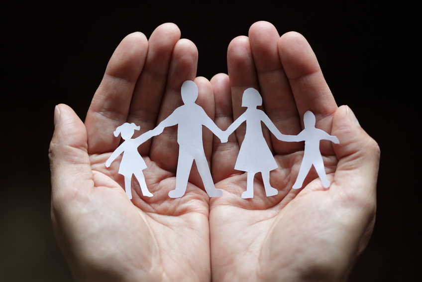 hands with family