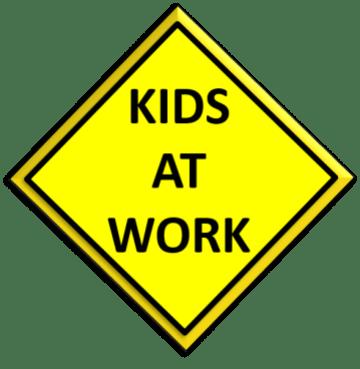 Kids at Work sign