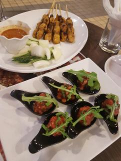 local food in western restaurant