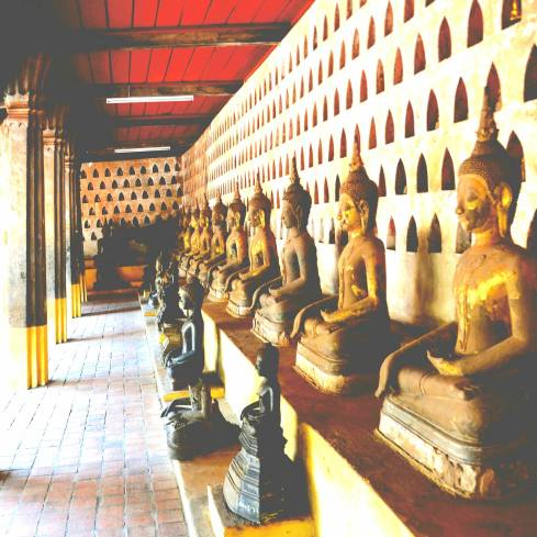 the many Buddhas in Wat Si Saket