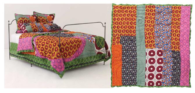 African Inspired Bedding - Anthropologie Yoruba quilt