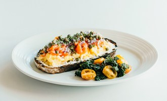 brunch entree - Salmon Tartine