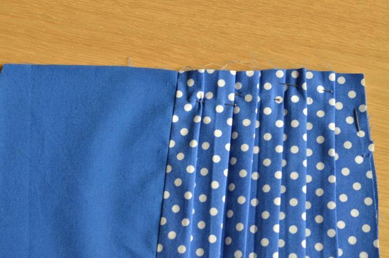 Trousse plissee-marquage des plis