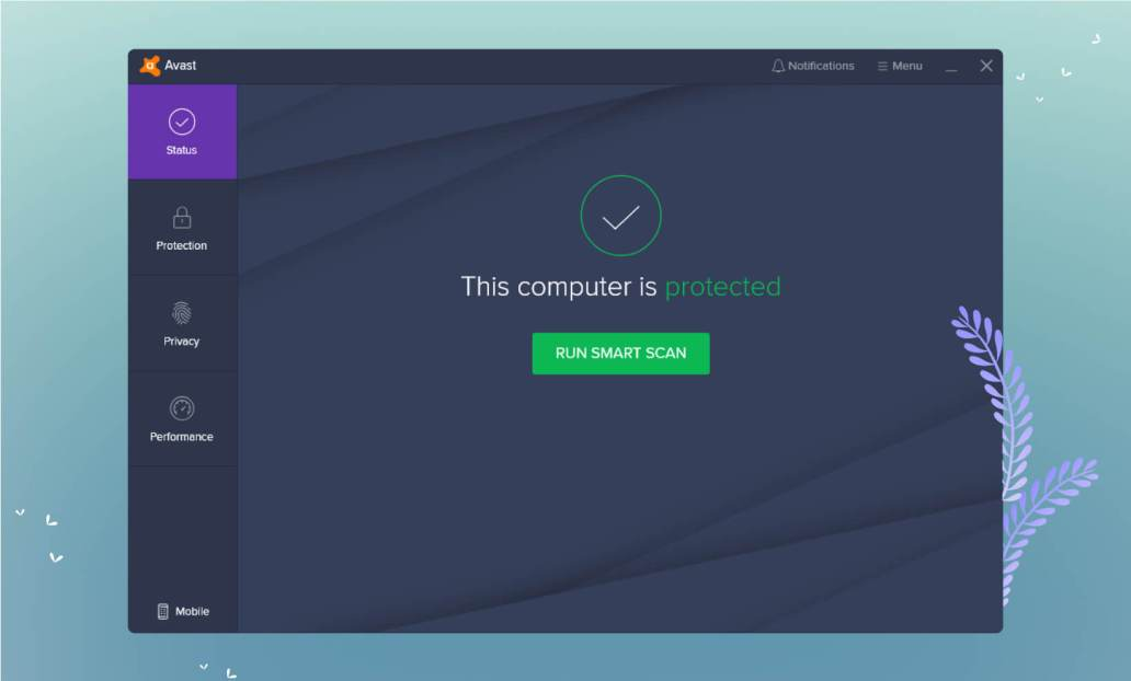 Avast User Interface