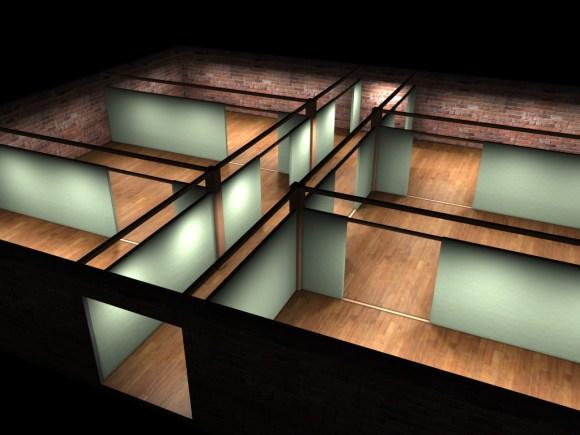 Architecture scene made with Maya