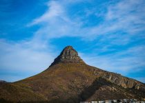 Skyline view of Lions head in Cape Town.