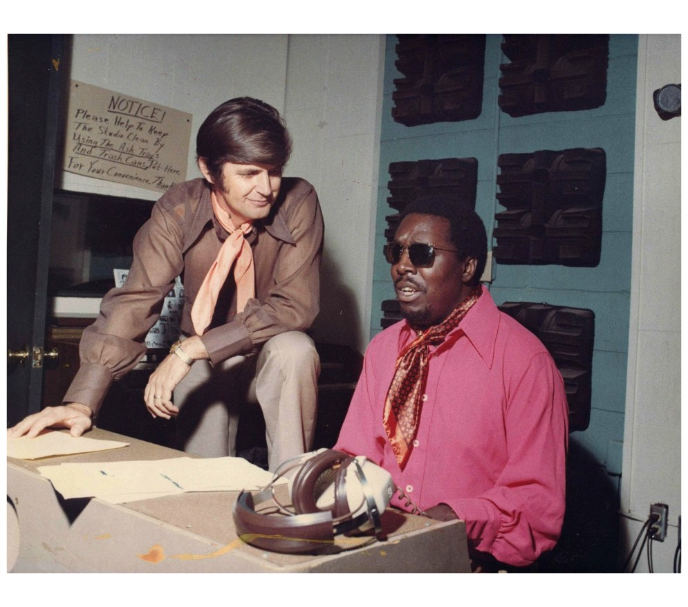 Rick Hall and Clarence Carter, whose Fame recordings such as Slip Away and Making Love (At The Dark End of the Street) established him as the king of Ôthe cheating songÕ Picture: Michael Ochs Archives / Getty